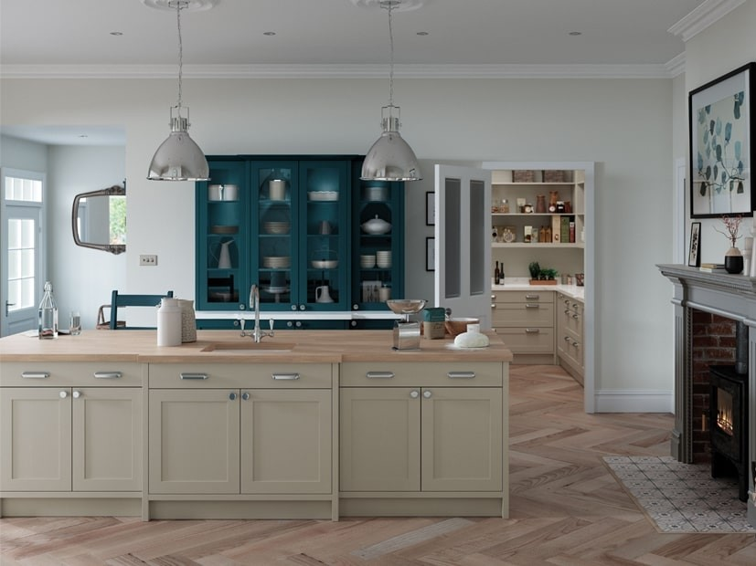 Alana Marine Coloured Kitchen