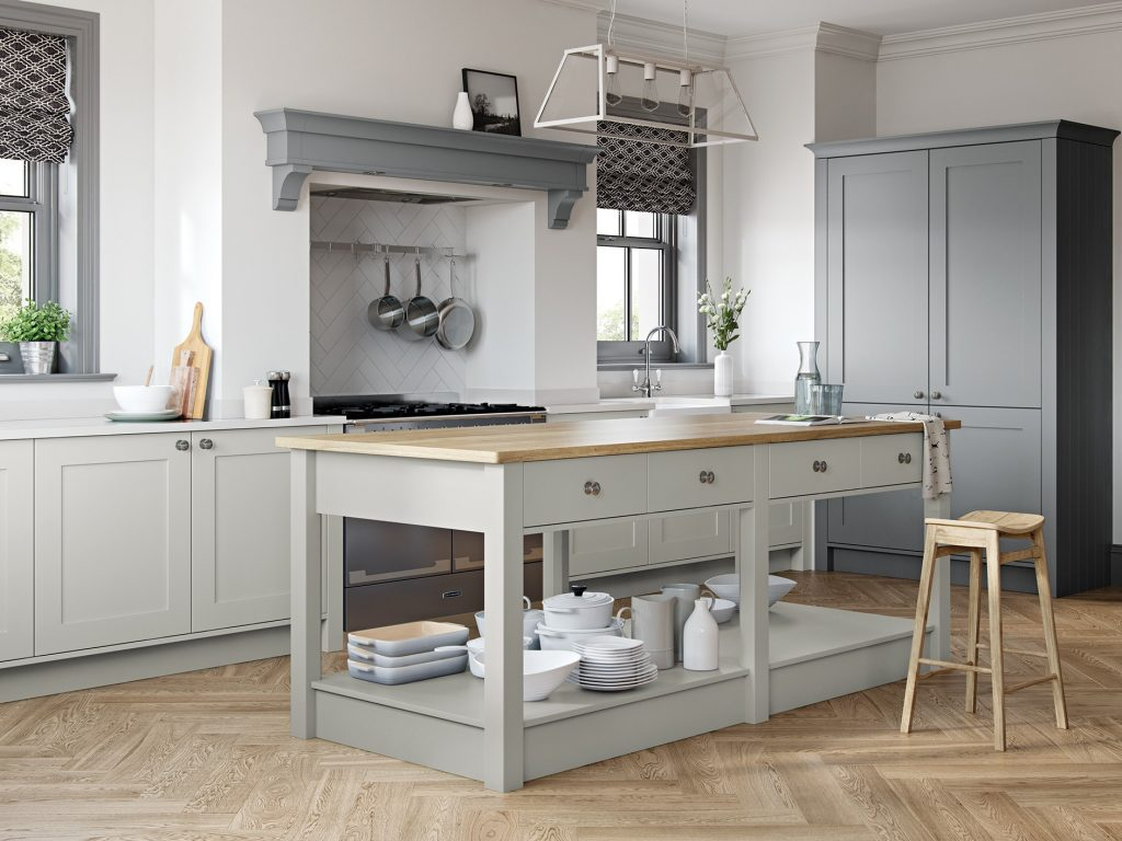 Georgina Light and Dust Grey Coloured kitchen