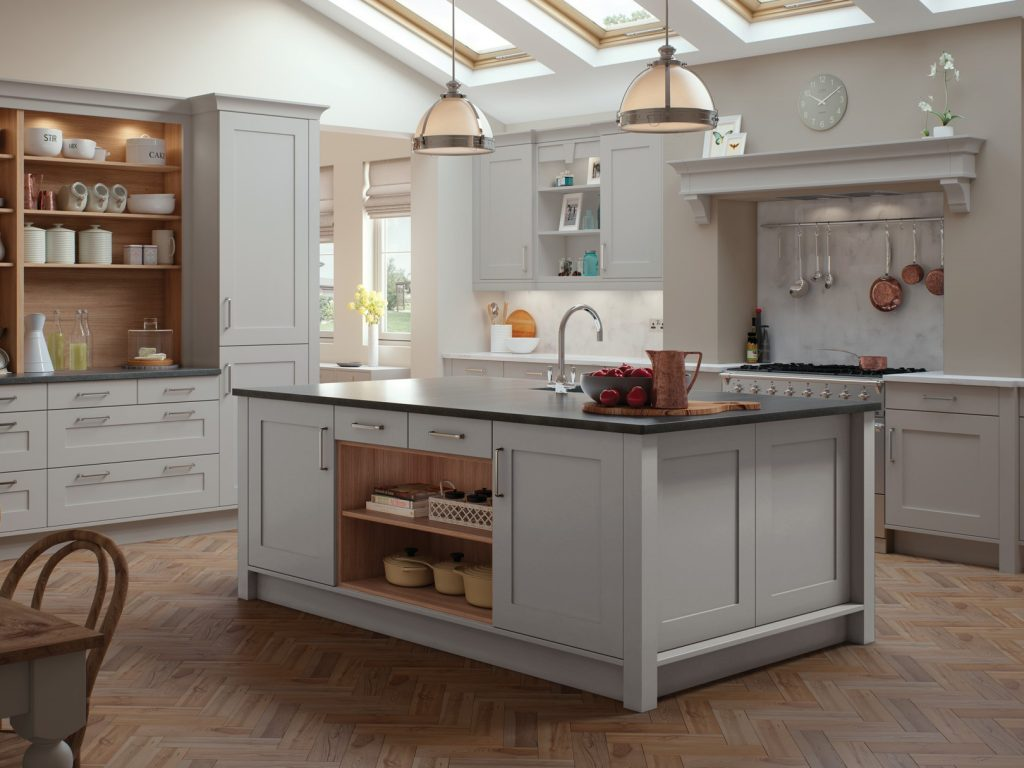 Georgina Painted kitchen- light grey