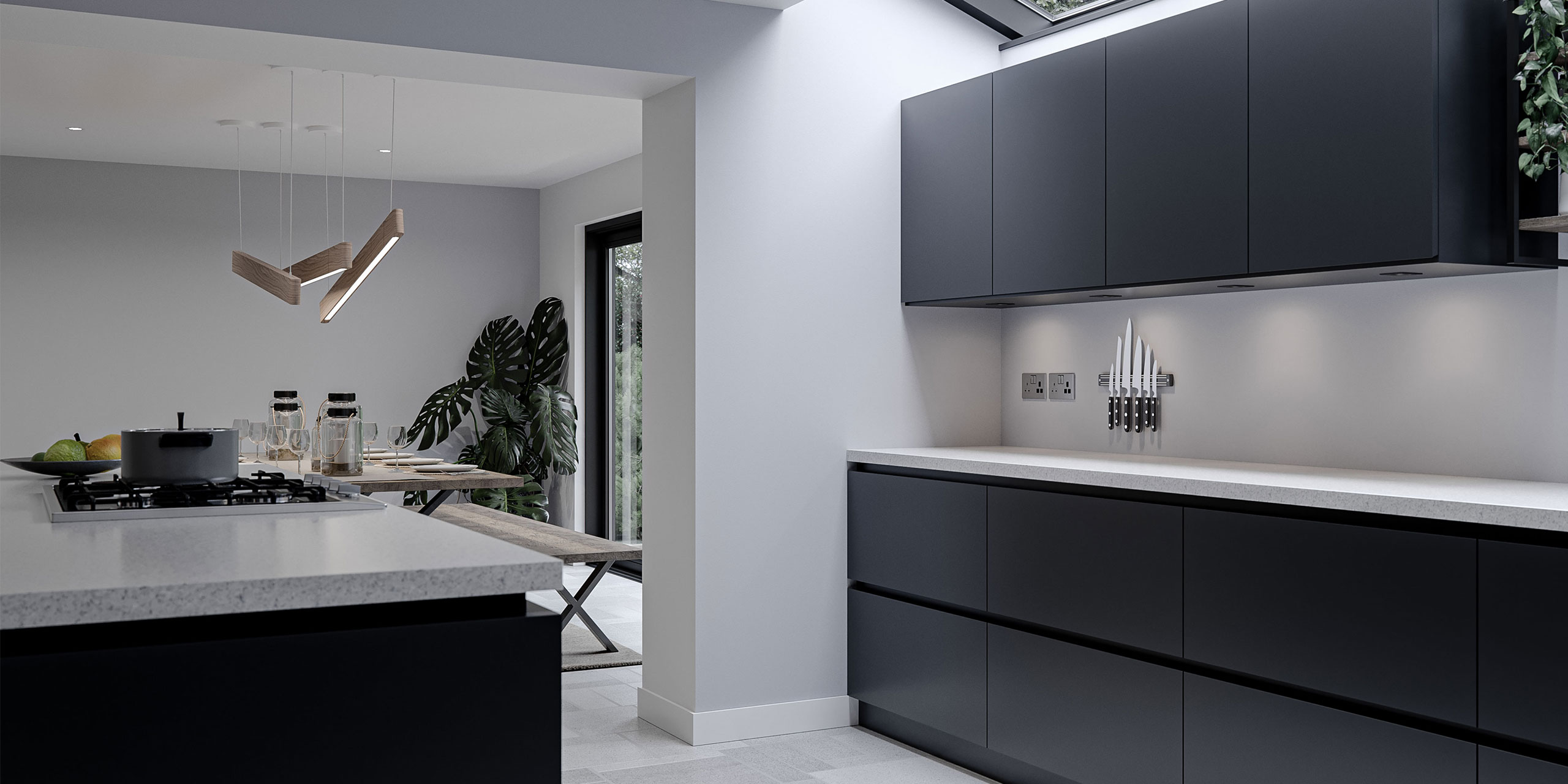 Knife Rack Kitchen Product on display in a modern kitchen - Storage Tips