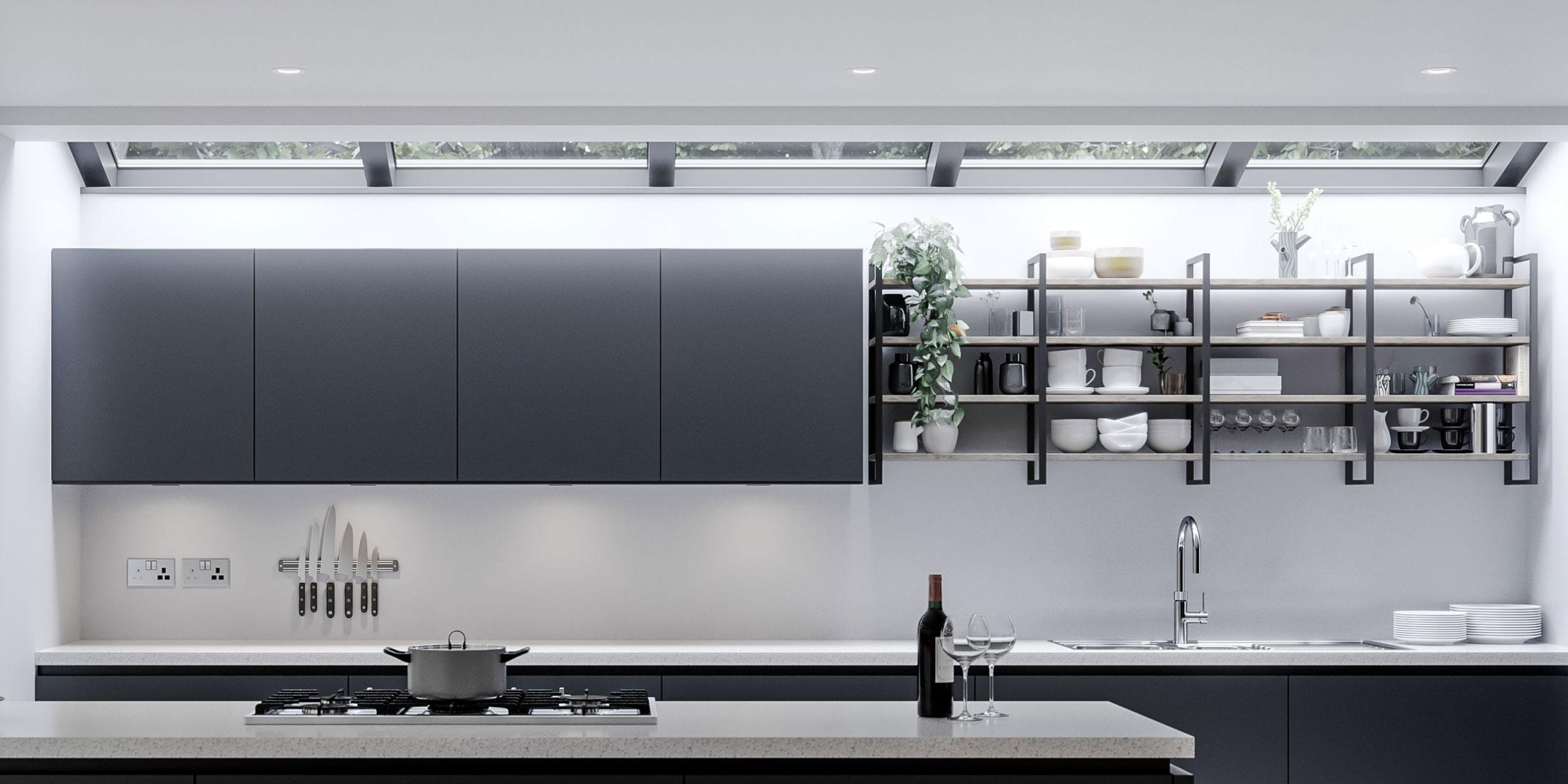 YouK Shelving Storage in Graphite Linea Kitchen